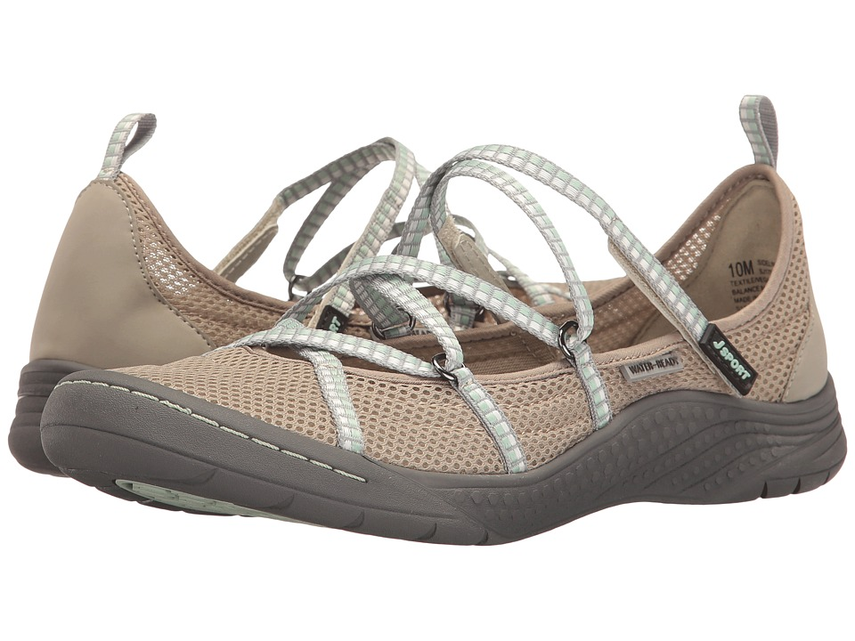 JBU Sideline Encore (Light Grey/Mint Mesh/Microbuck/Webbing) Women
