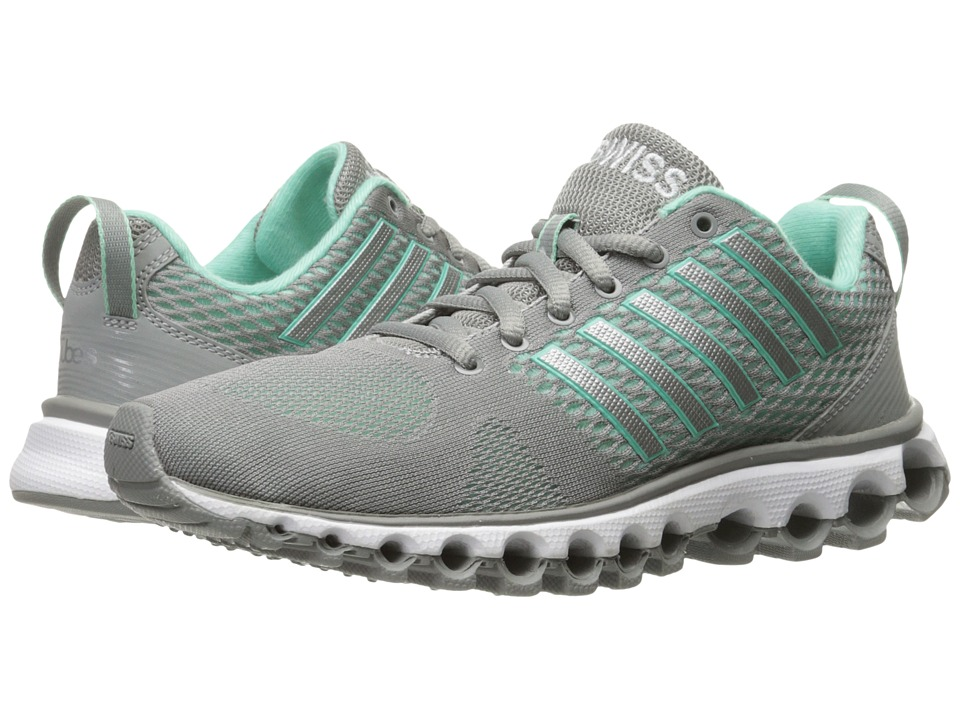 K-Swiss - X-180 EM CMF (Neutral Gray/Cabbage) Women's Tennis Shoes