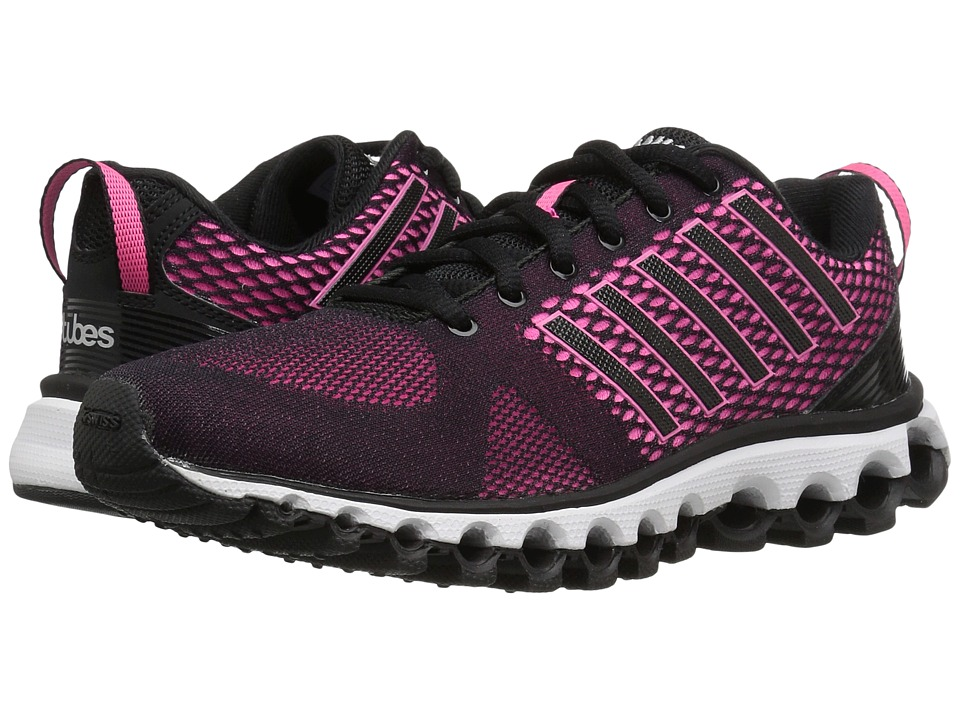 K-Swiss - X-180 EM CMF (Black/Neon Pink/Silver) Women's Tennis Shoes