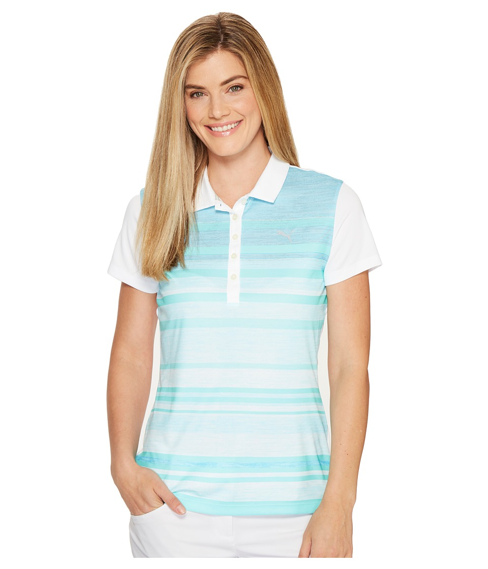 PUMA Golf - Depths Polo (Bright White) Women's Short Sleeve Knit