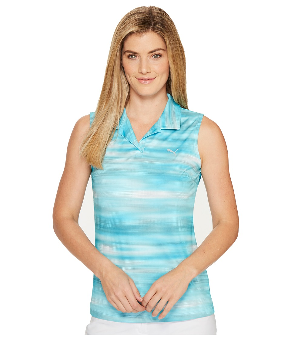 PUMA Golf - Uncamo Sleeveless Polo (Blue Atoll) Women's Sleeveless