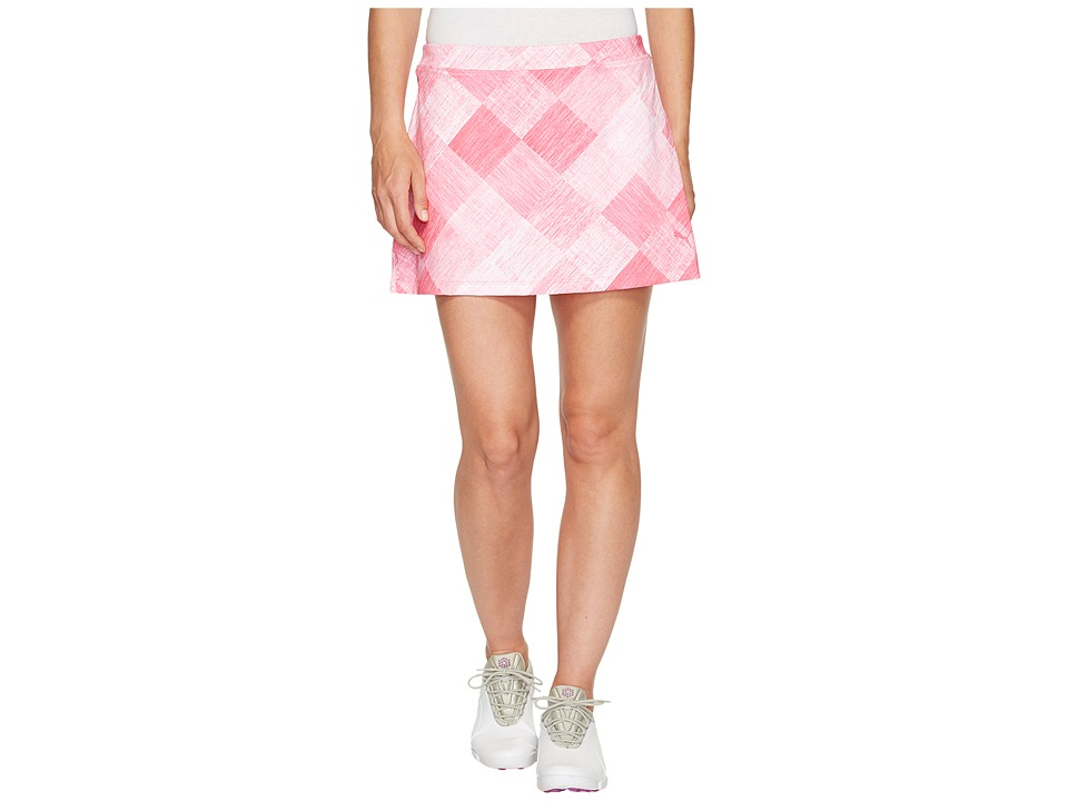PUMA Golf - Crosshatch Knit Skirt (Shocking Pink) Women's Skirt