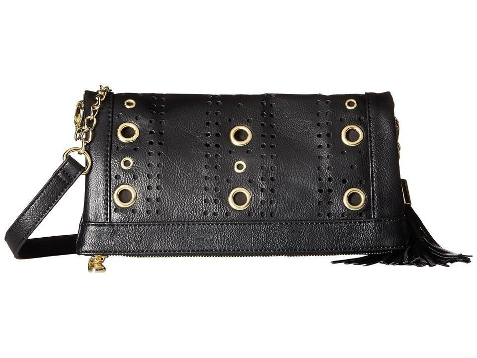 Steve Madden - Baddie Grommet Convertible Clutch (Black) Clutch Handbags