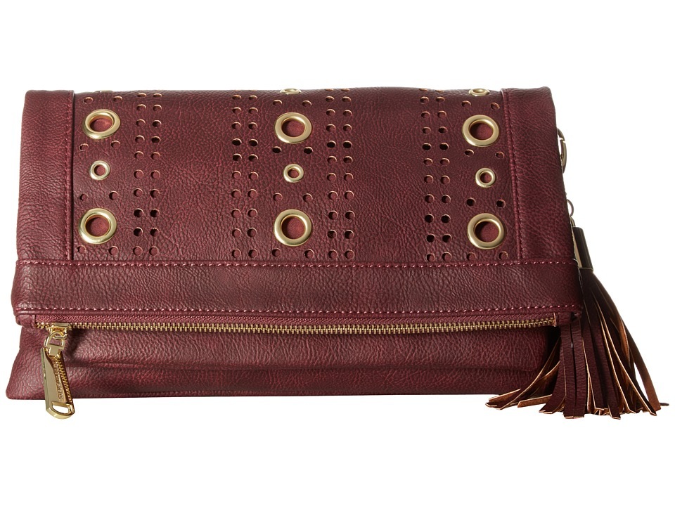 Steve Madden - Baddie Grommet Convertible Clutch (Wine) Clutch Handbags