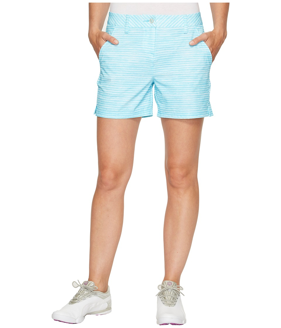 PUMA Golf - Printed 5 Shorts (Blue Atoll) Women's Shorts