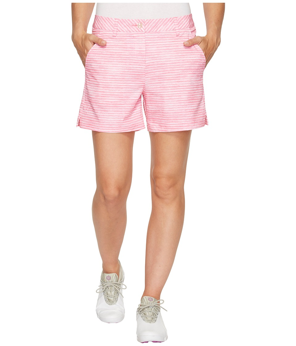 PUMA Golf - Printed 5 Shorts (Shocking Pink) Women's Shorts