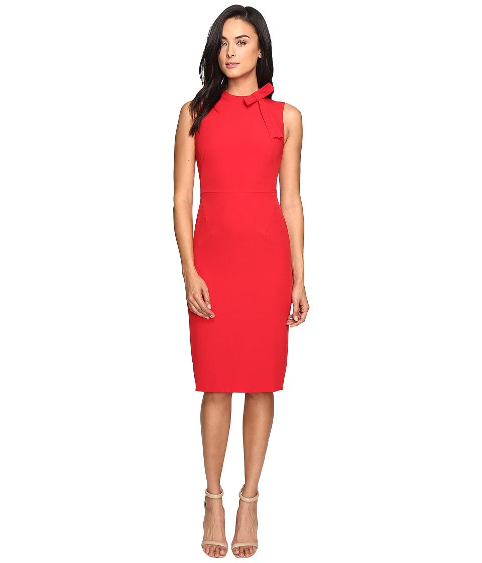 Maggy London - Crepe Sheath Dress w/ Neck Tie (New Red) Women's Dress