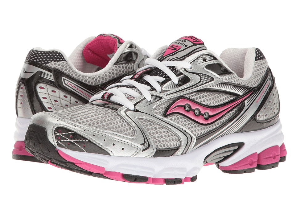 Saucony - Grid Stratos 5 (Silver/Black/Pink) Women's Shoes