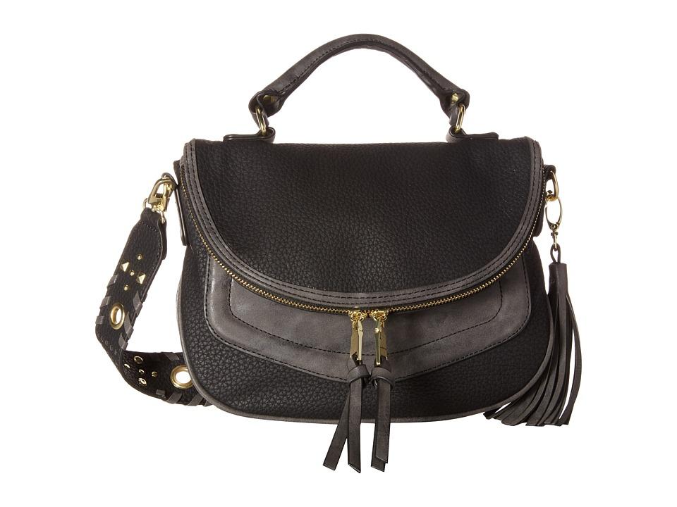 Steve Madden - Mini Roxy Whip/Grommet (Black) Handbags