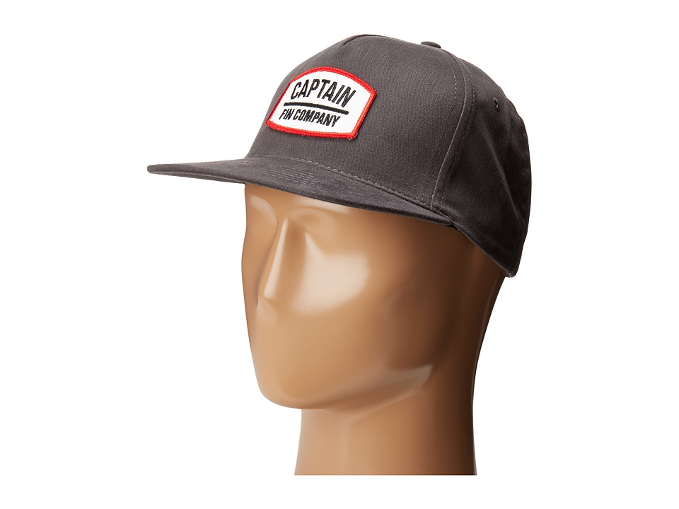 Captain Fin - Tug Boat 5 Panel (Graphite) Traditional Hats
