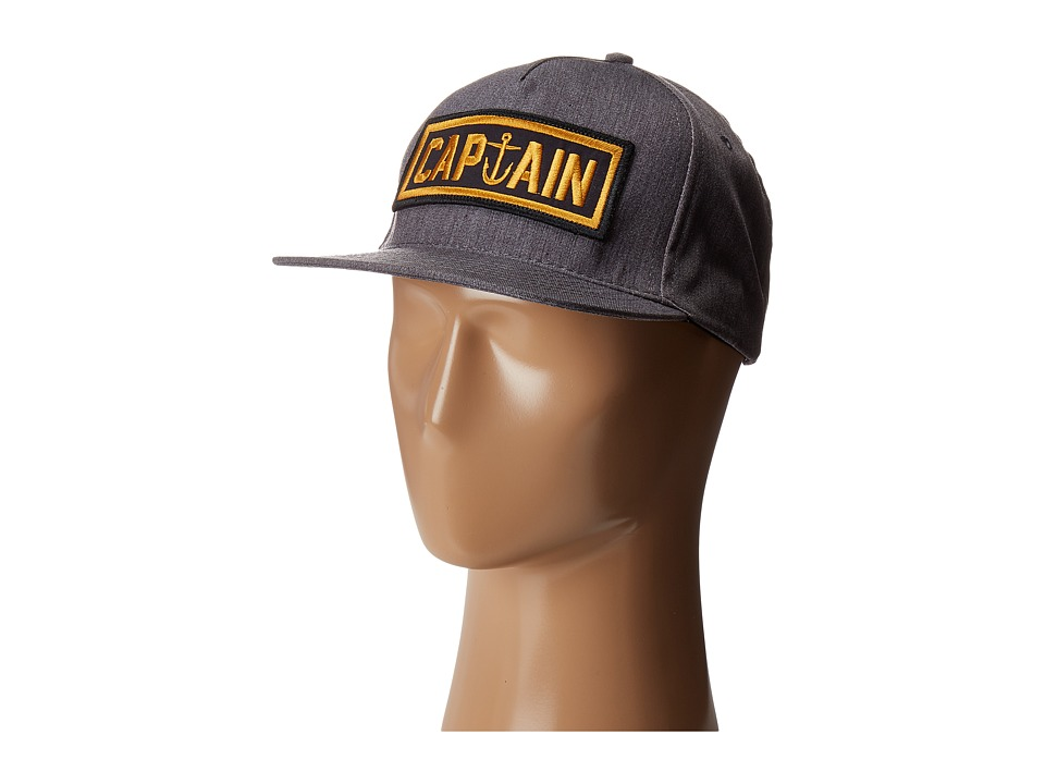Captain Fin - Naval Captain 6 Panel Hat (Heather Grey) Traditional Hats