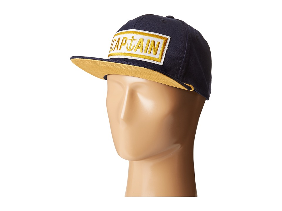 Captain Fin - Naval Captain 6 Panel Hat (Navy/Gold) Caps