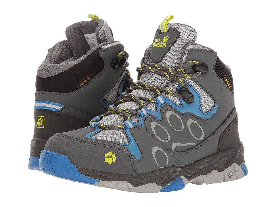 Jack Wolfskin Kids - Mountain Attack 2 Texapore Mid (Toddler/Little Kid/Big Kid) (Wave Blue) Boys Shoes