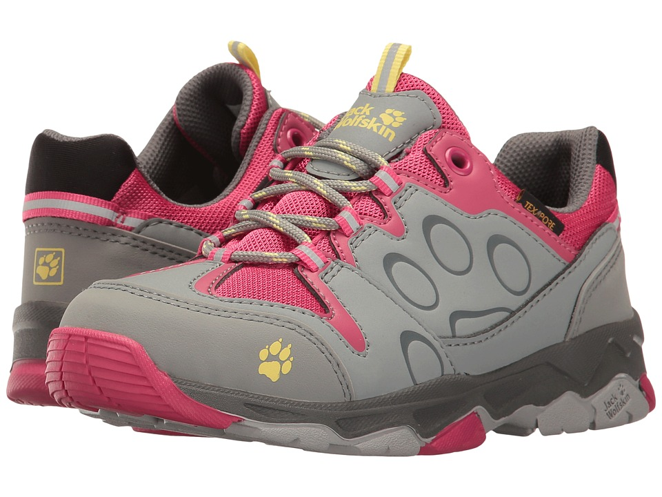 Jack Wolfskin Kids - Mountain Attack 2 Texapore Low (Toddler/Little Kid/Big Kid) (Tropic Pink) Girls Shoes