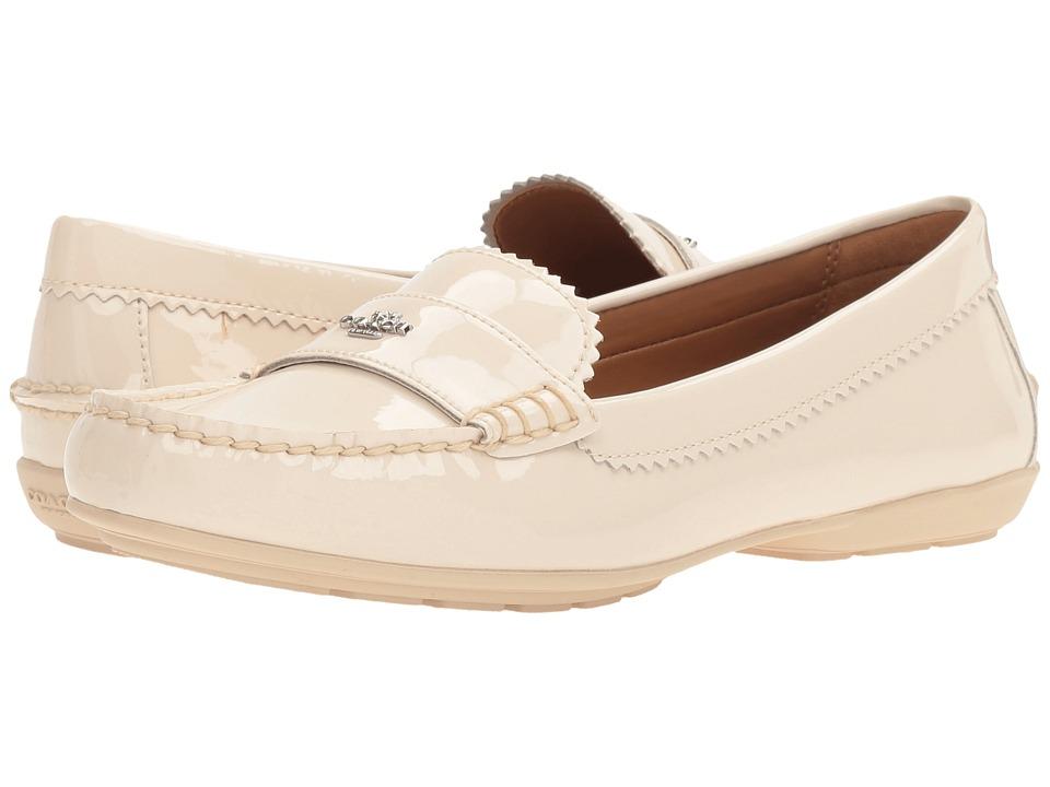 COACH - Odette (Chalk Patent) Women's Flat Shoes