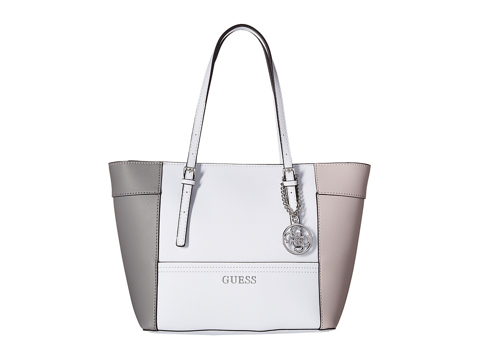 GUESS - Delaney Small Classic Tote (Cloud Multi) Tote Handbags