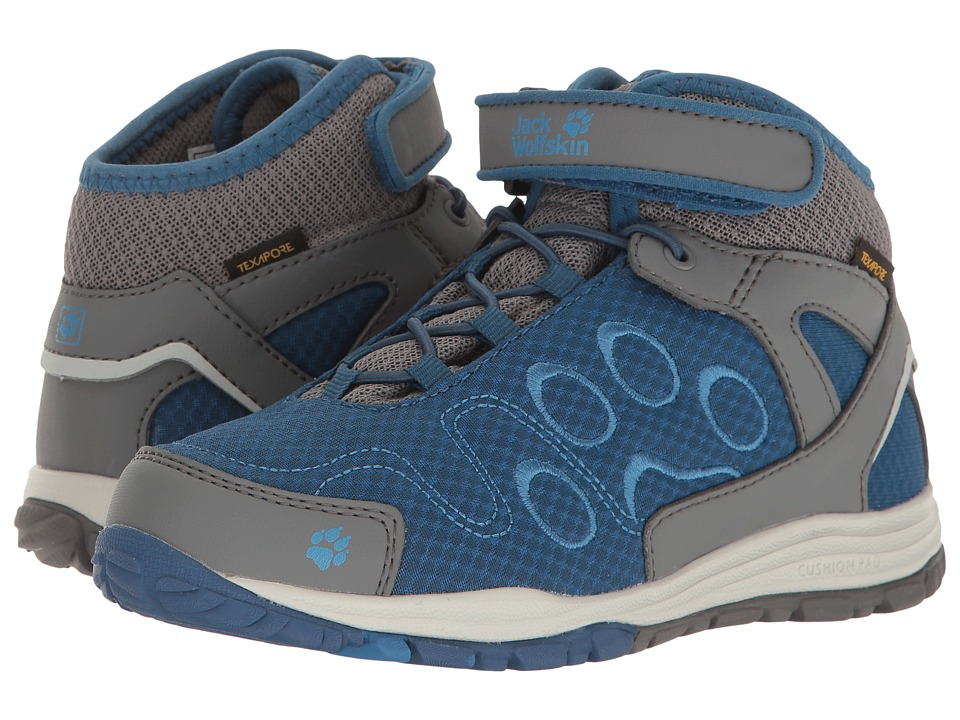 Jack Wolfskin Kids - Portland Texapore Mid (Toddler/Little Kid/Big Kid) (Ocean Wave) Boys Shoes