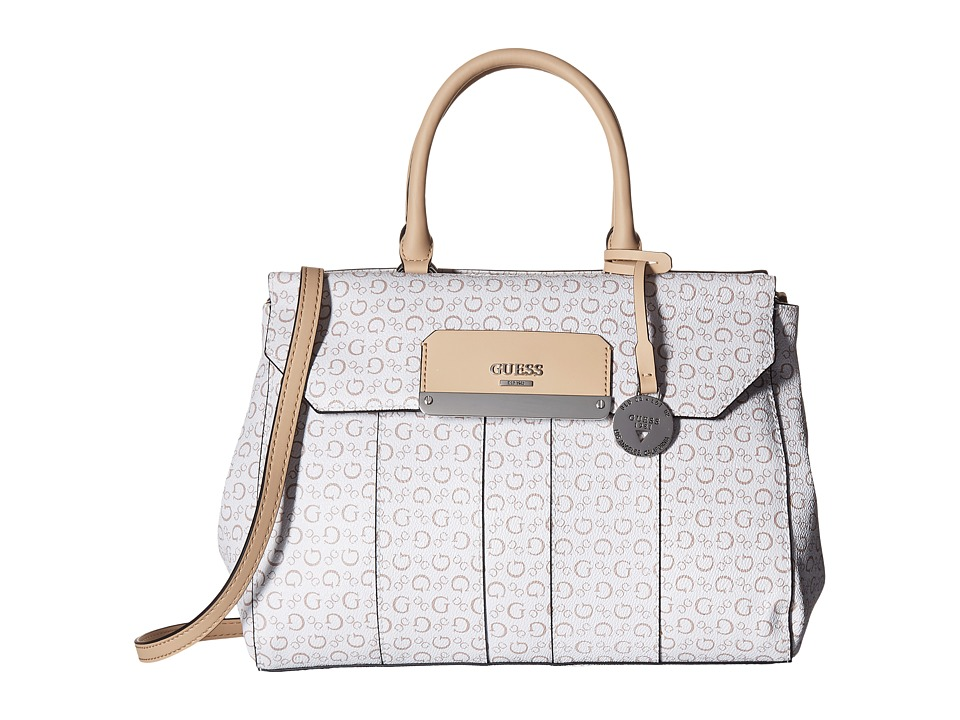 GUESS - Hop Carryall (White) Handbags