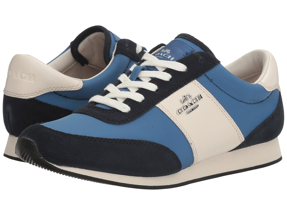 COACH - Raylen (Lapis/Midnight Navy Nylon/Suede) Women's Lace up casual Shoes