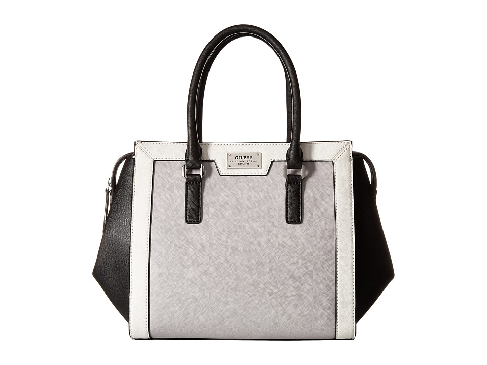 GUESS - Sunnyside Satchel (Black Multi) Satchel Handbags