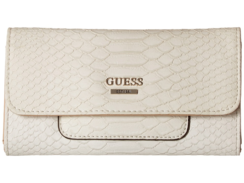 GUESS - Milo Slim Clutch (Chalk) Clutch Handbags