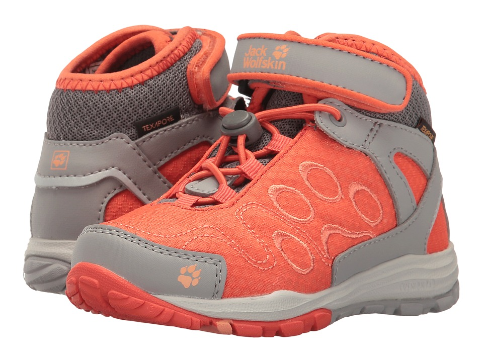 Jack Wolfskin Kids - Portland Texapore Mid (Toddler/Little Kid/Big Kid) (Hot Coral) Kids Shoes