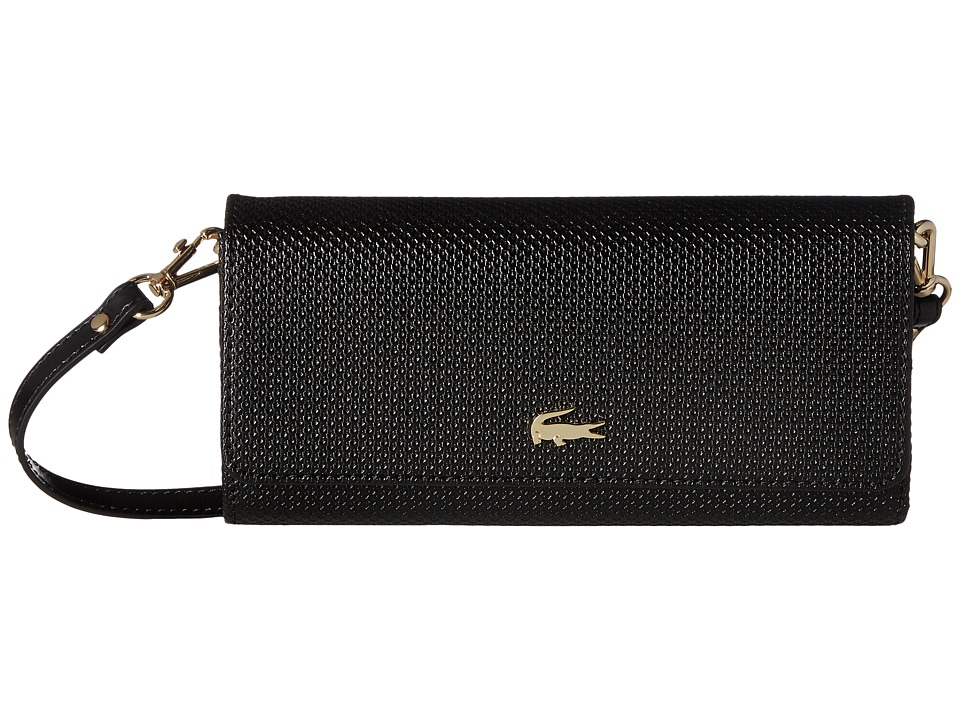 Lacoste - Chantaco Snap Wallet Crossbody (Black) Cross Body Handbags