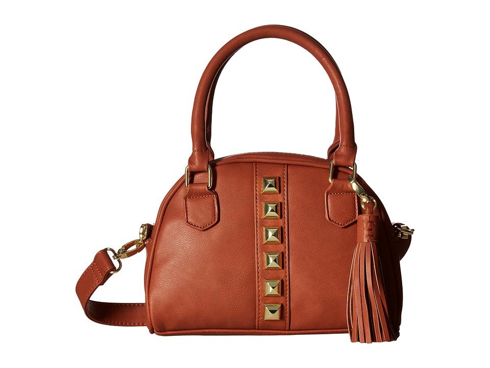 Steve Madden - Mini BGloria Studs Mini Satchel (Cognac) Satchel Handbags