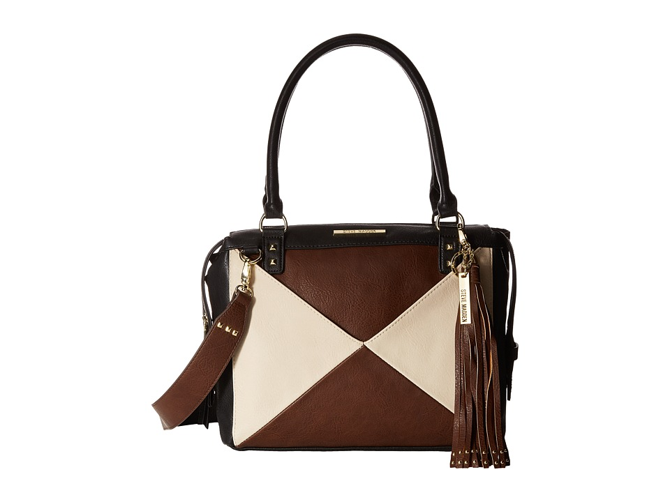 Steve Madden - BMariel Satchel (Black/Brown/Cream) Satchel Handbags