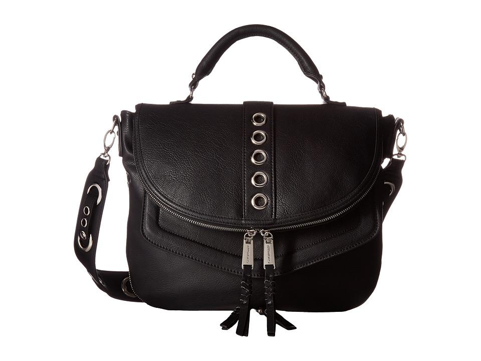Steve Madden - BRoxy Grommet Strap Messenger (Black) Messenger Bags