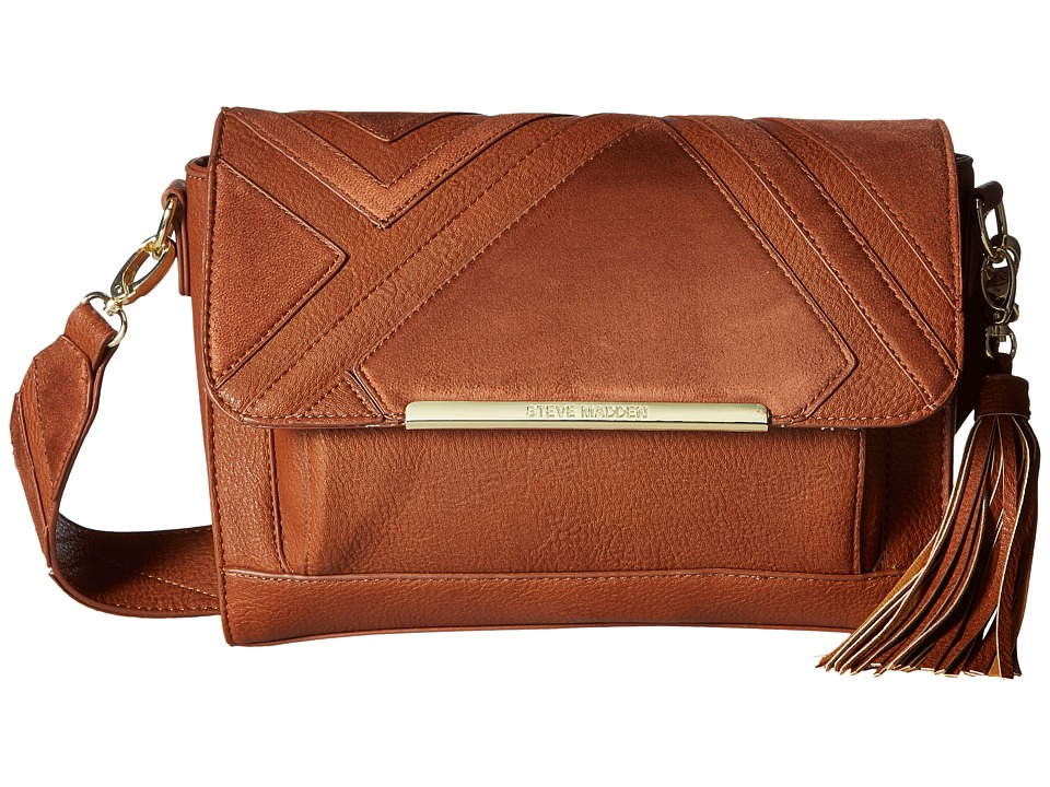 Steve Madden - BJanel Flap Crossbody (Cognac) Cross Body Handbags