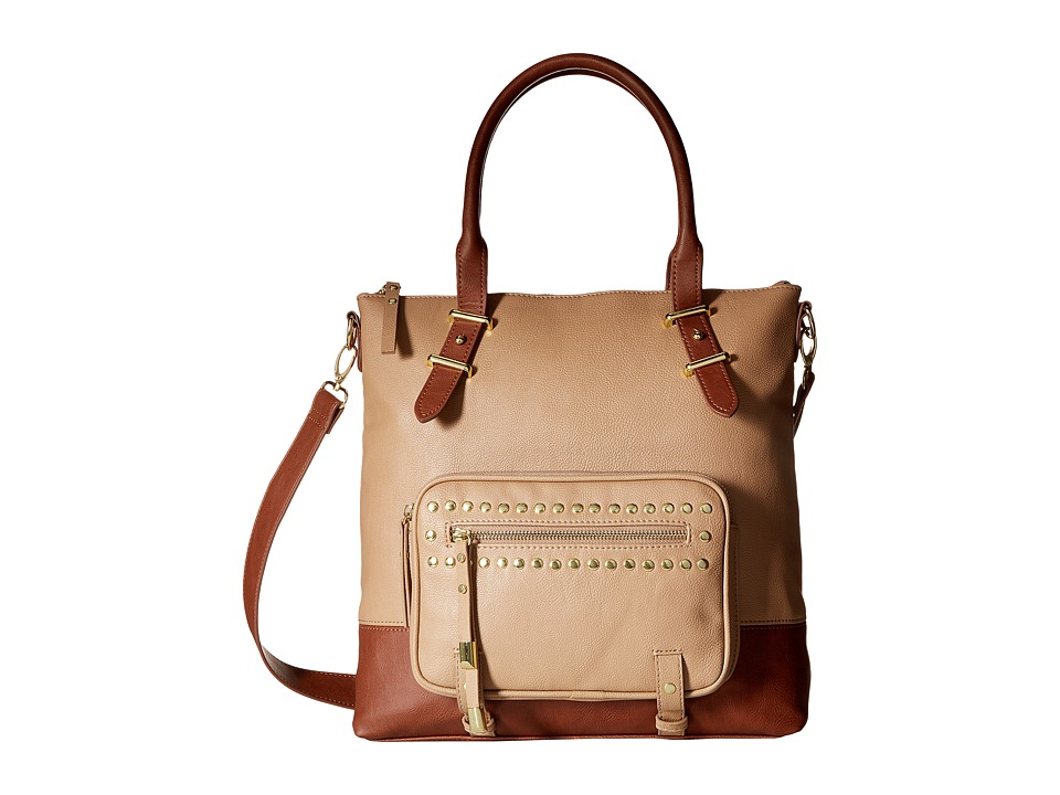 Steve Madden - BTulip Tote (Taupe/Cognac) Tote Handbags