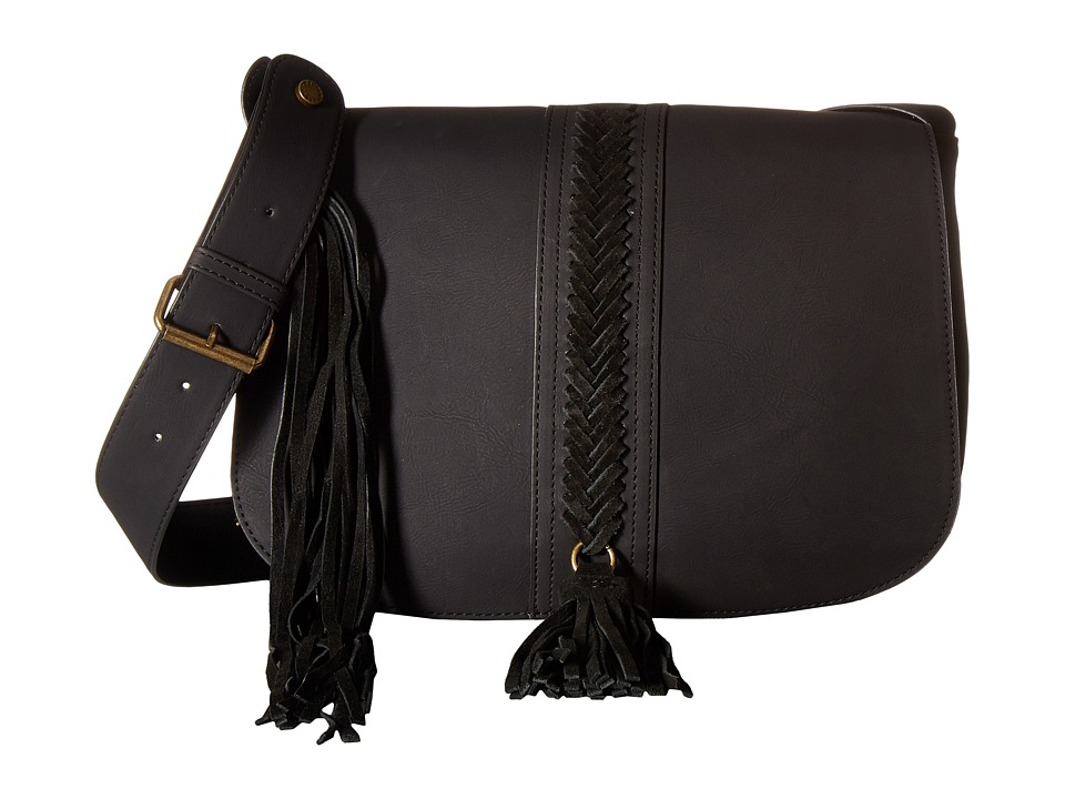 Steve Madden - BHazel Saddle Bag (Nubuck/Suede Black) Handbags