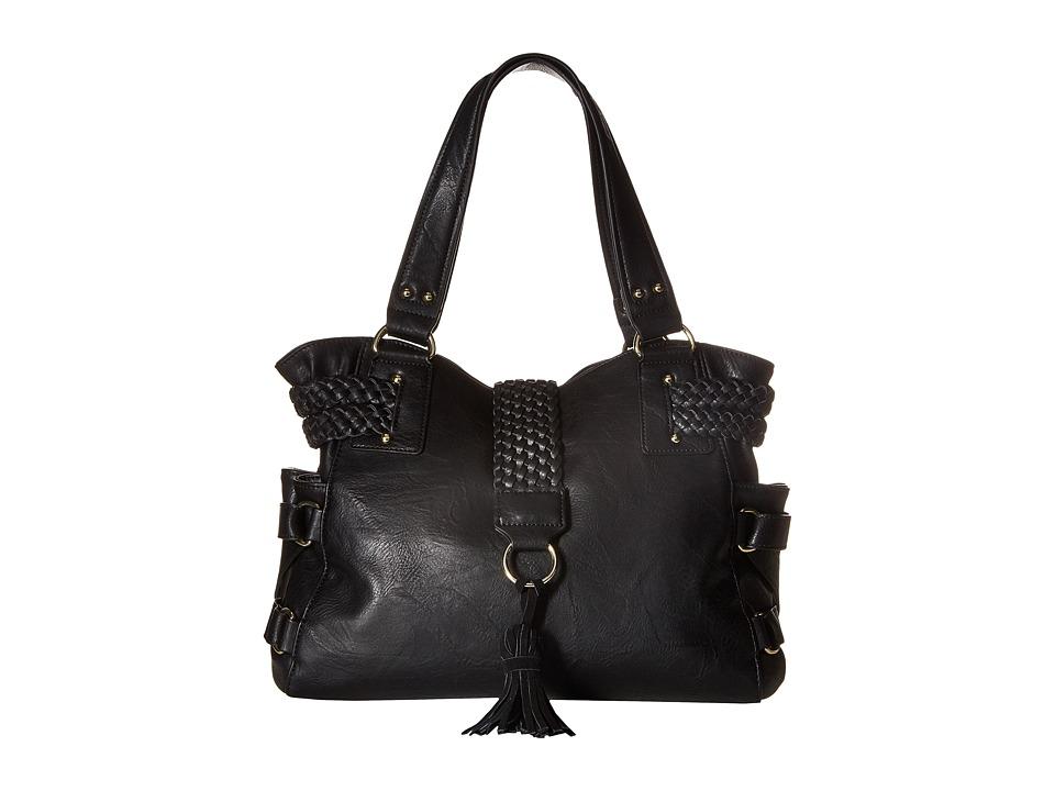 Steve Madden - BSamba Tote (Distressed/Suede Black) Tote Handbags