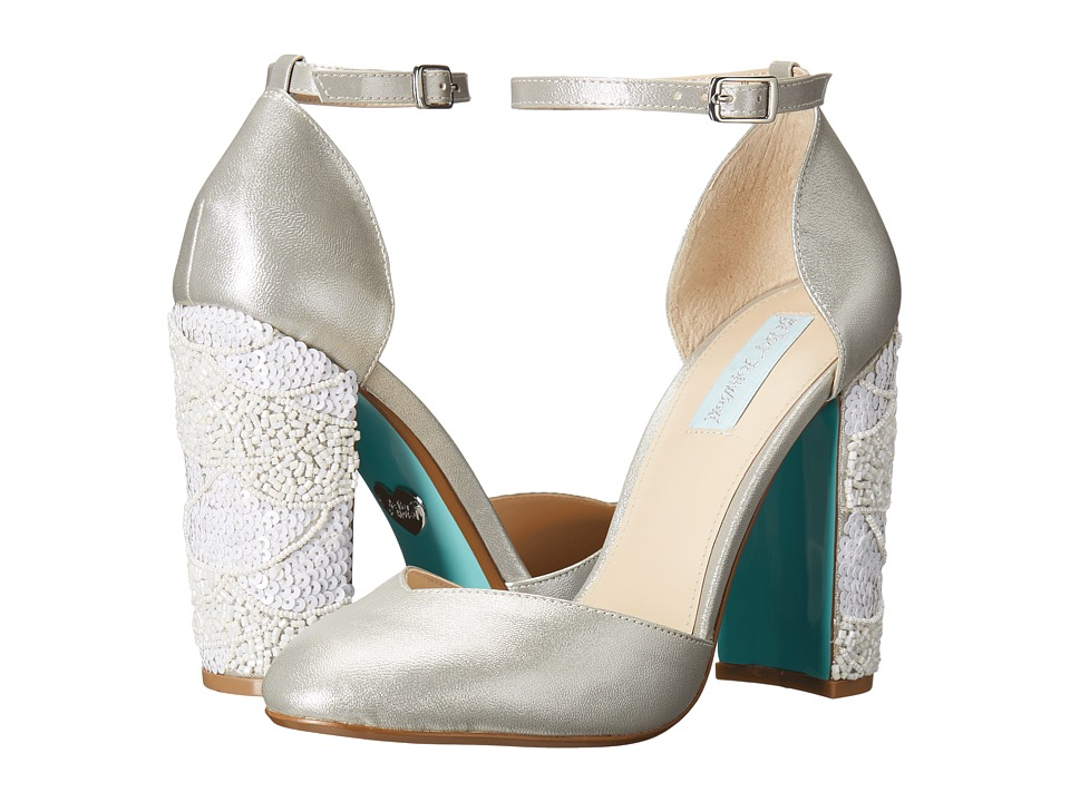 Blue by Betsey Johnson - Sybil (Silver Shimmer) High Heels