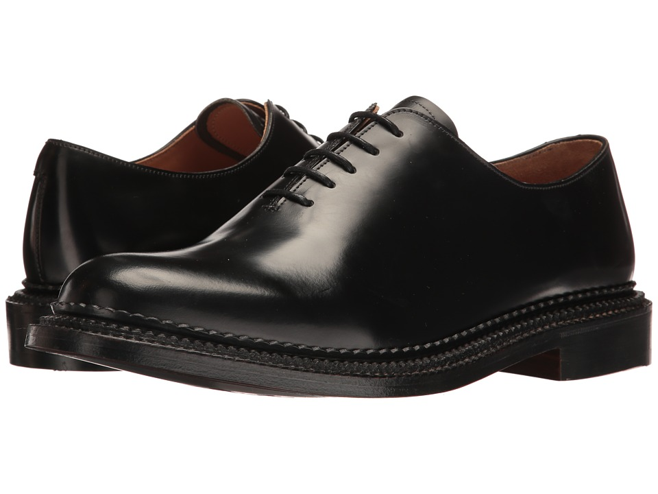 Grenson - U.K. Made Michael (Black Rub Off) Men's Plain Toe Shoes