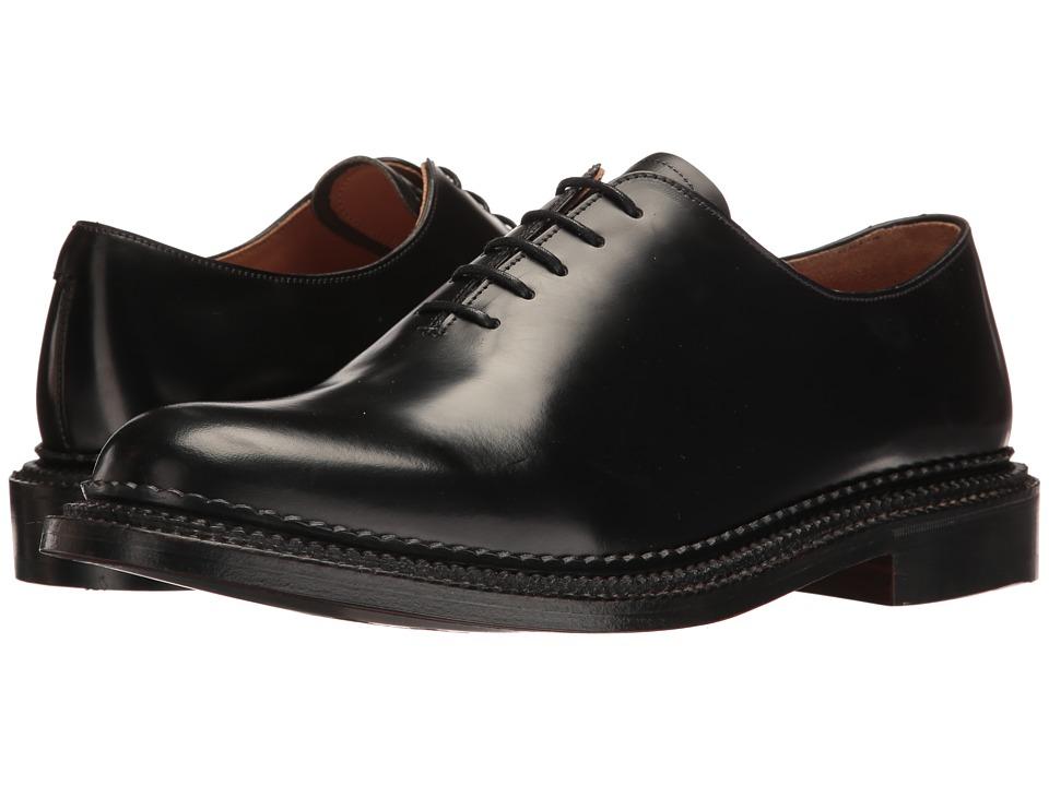Grenson - U.K. Made Michael (Black Rub Off) Men's Plain Toe Shoes