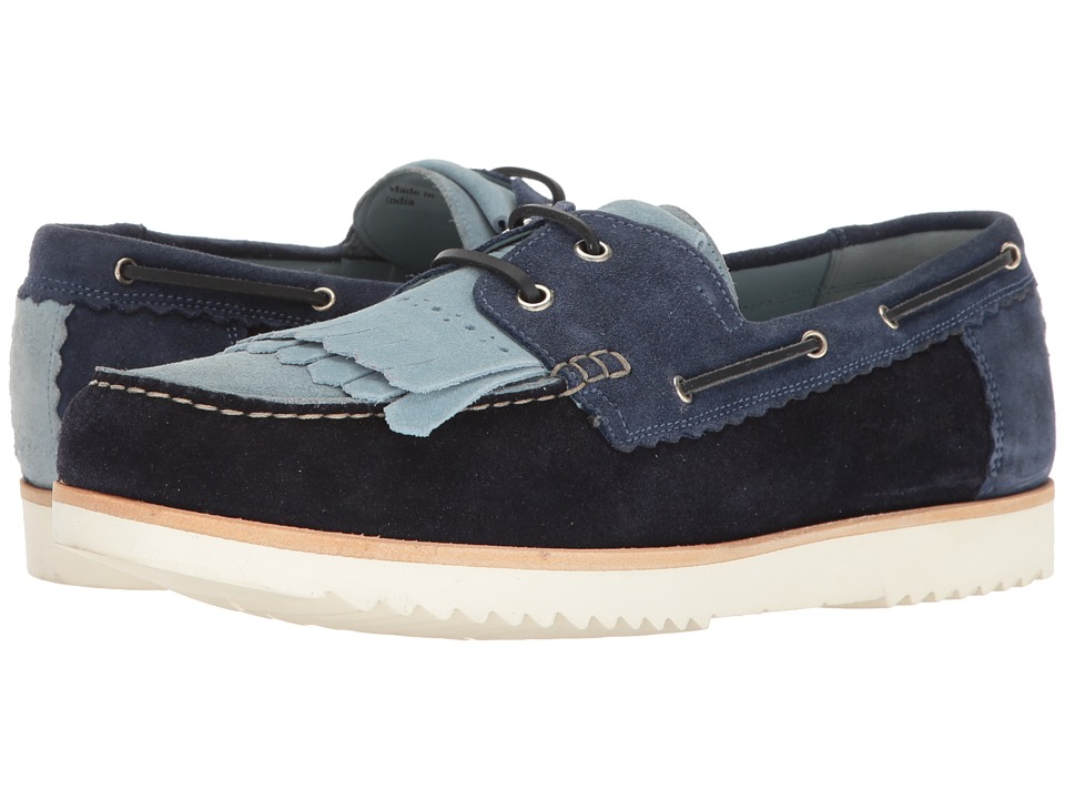 Grenson - Stevie Moccasin (Powder/Prussian/Navy Blue Suede) Men's Moccasin Shoes
