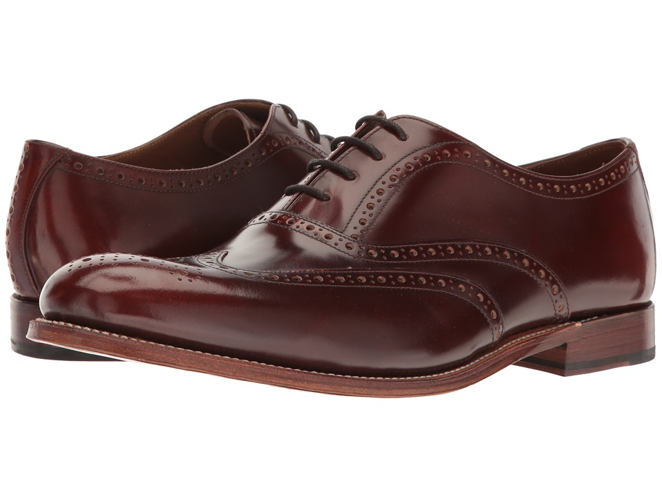 Grenson - Luther (Honey Hi Shine) Men's Lace Up Wing Tip Shoes