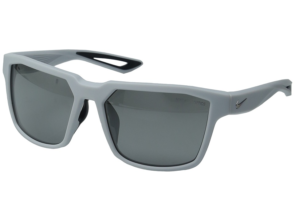 Nike - Fleet (Matte Platinum/Grey/Silver Flash Lens) Athletic Performance Sport Sunglasses