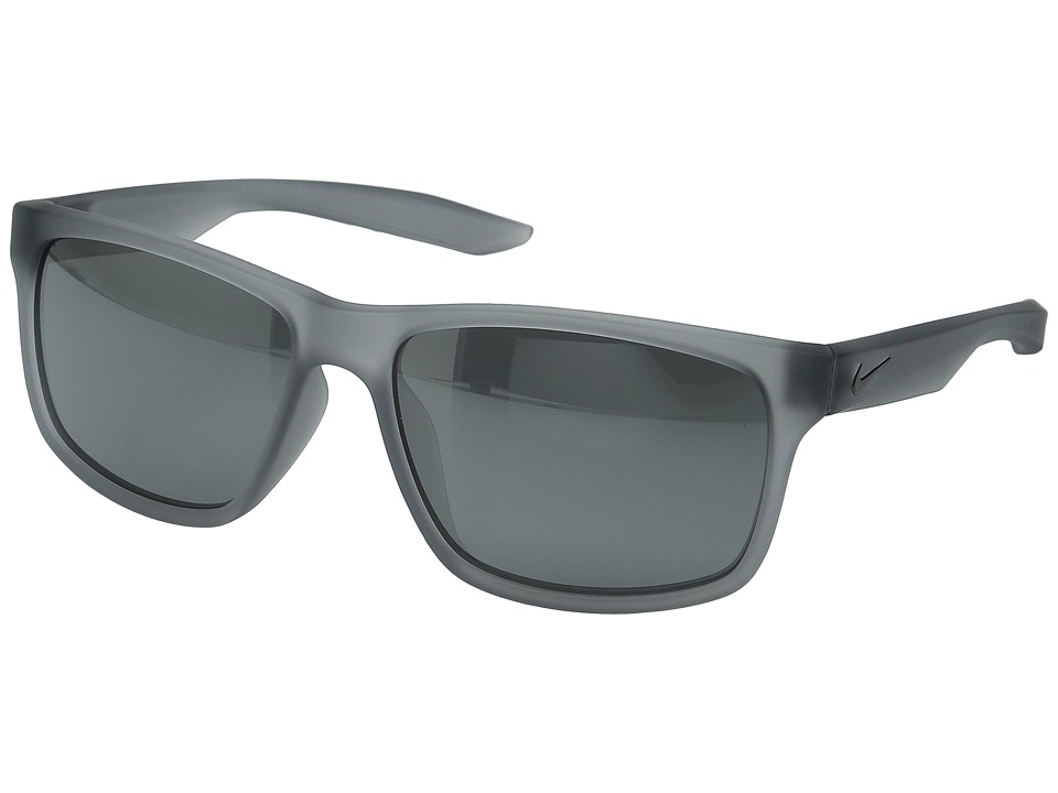 Nike - Essential Chaser (Matte Grey/Grey/Silver Flash Lens) Athletic Performance Sport Sunglasses