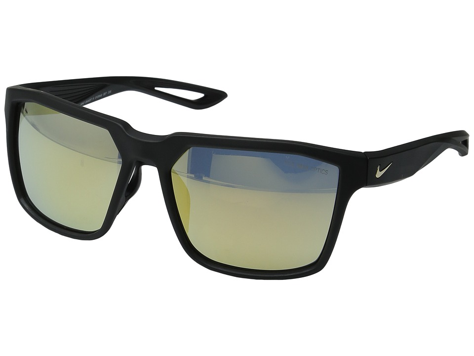 Nike - Bandit (Matte Black/Gold) Athletic Performance Sport Sunglasses