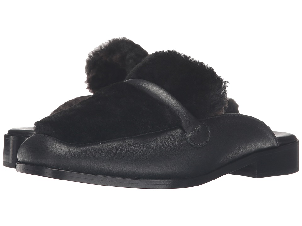 NewbarK - Melanie Mule Shearling (Black Shearling/Tobaccao Shearling) Women's Shoes