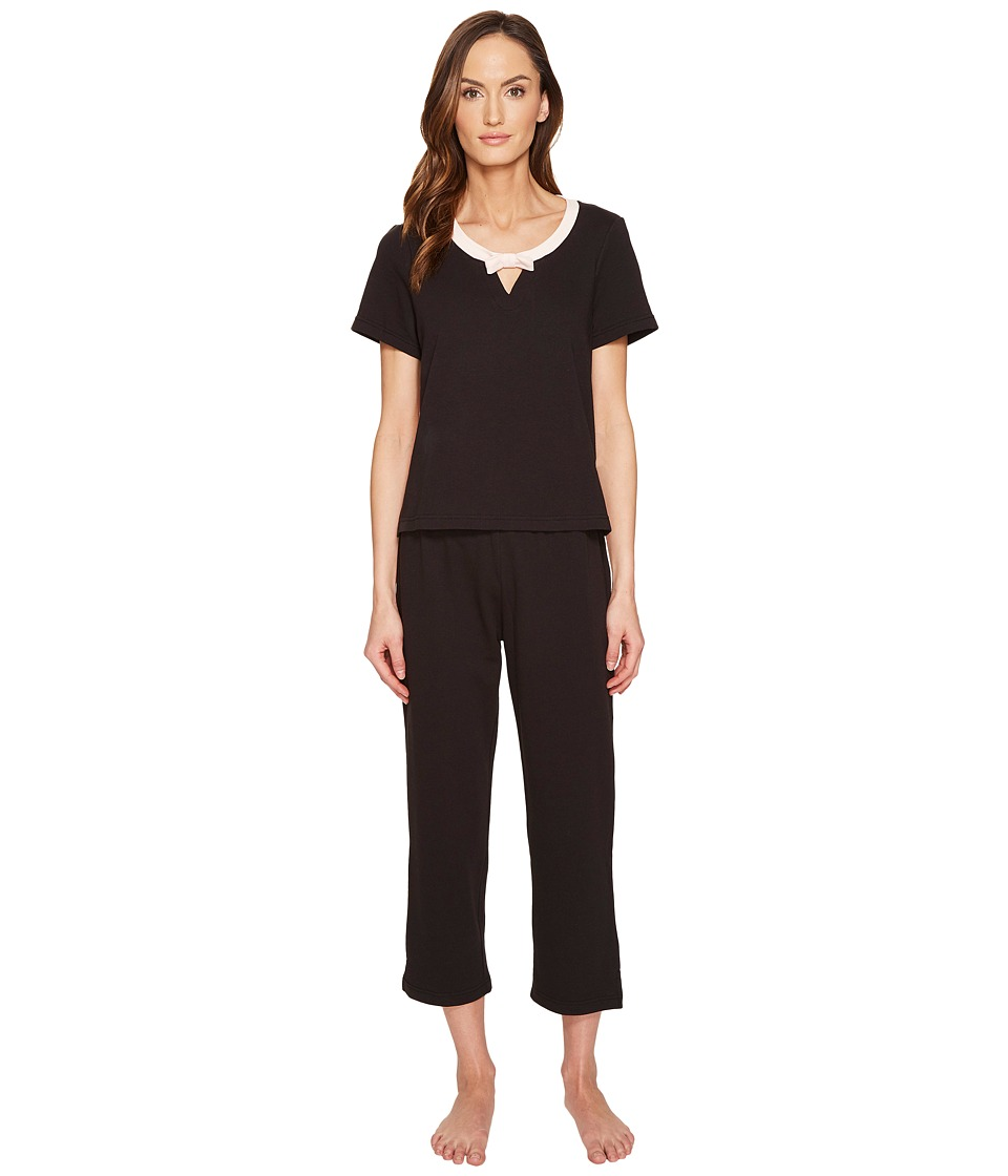 Kate Spade New York - French Terry Capris PJ Set (Black) Women's Pajama Sets