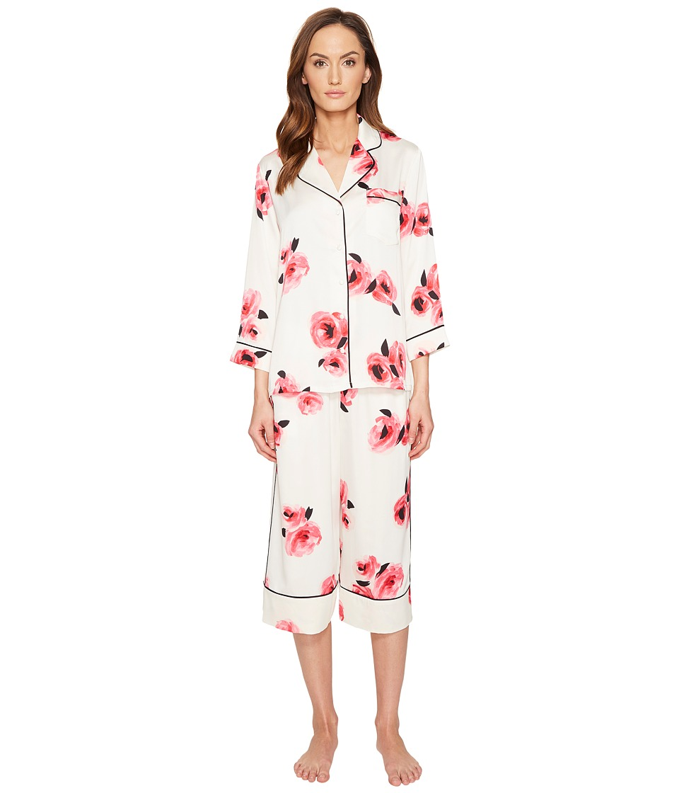 Kate Spade New York - Rose Charmeuse Capris PJ Set (Rose) Women's Pajama Sets