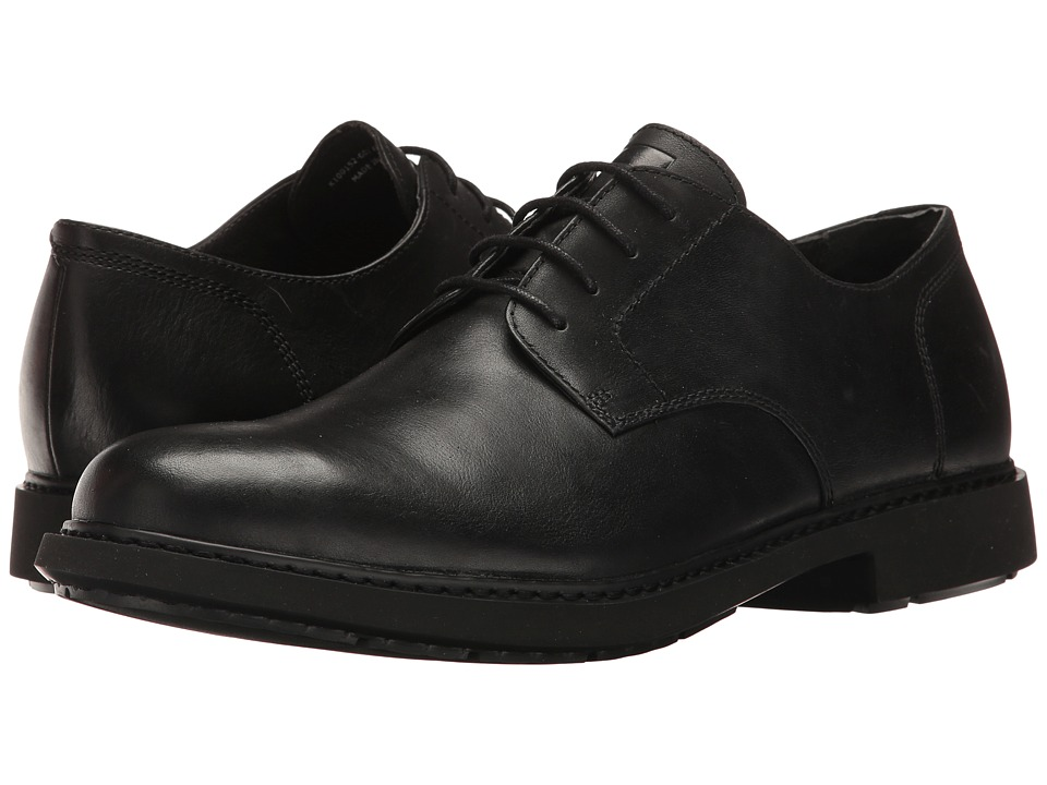 Camper - Neuman - K100152 (Black) Men's Dress Flat Shoes
