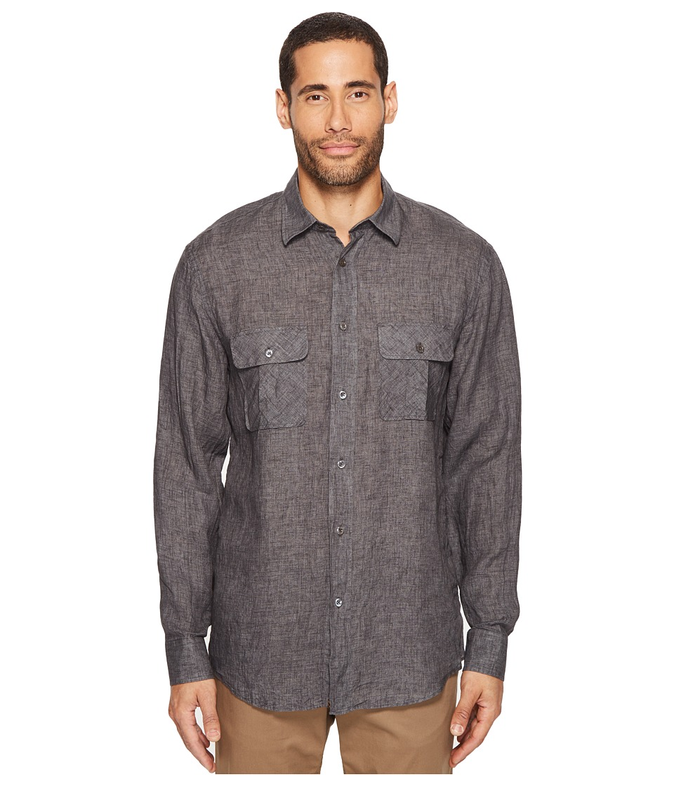 Billy Reid - Brantley Shirt (Charcoal) Men's Clothing