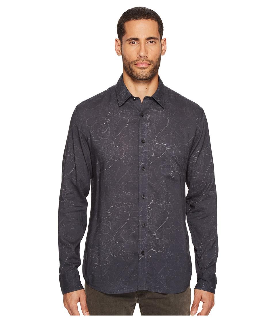 Billy Reid - Kirby Shirt (Charcoal) Men's Clothing