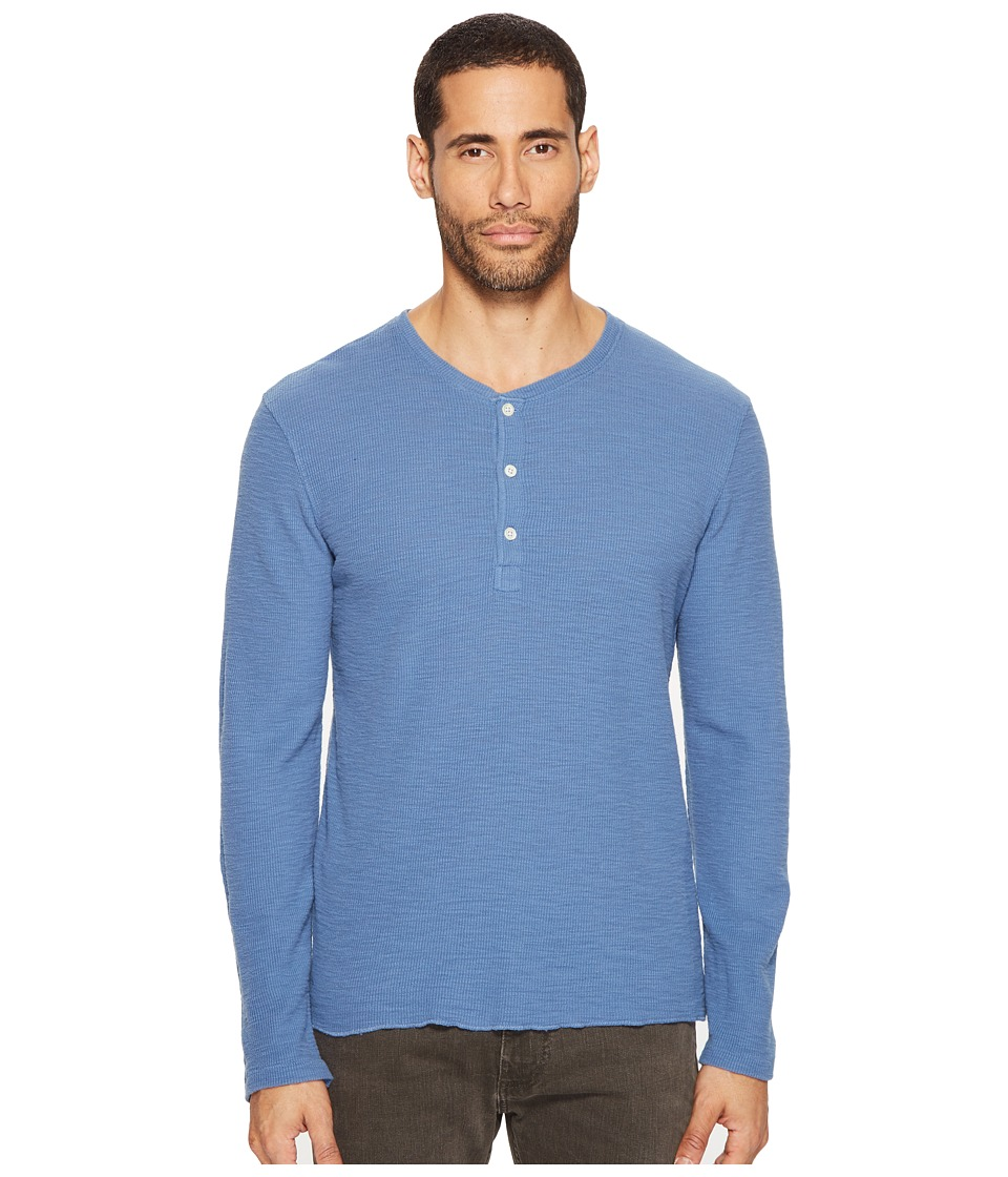 Billy Reid - Hartford Henley (Ink Blue) Men's Clothing