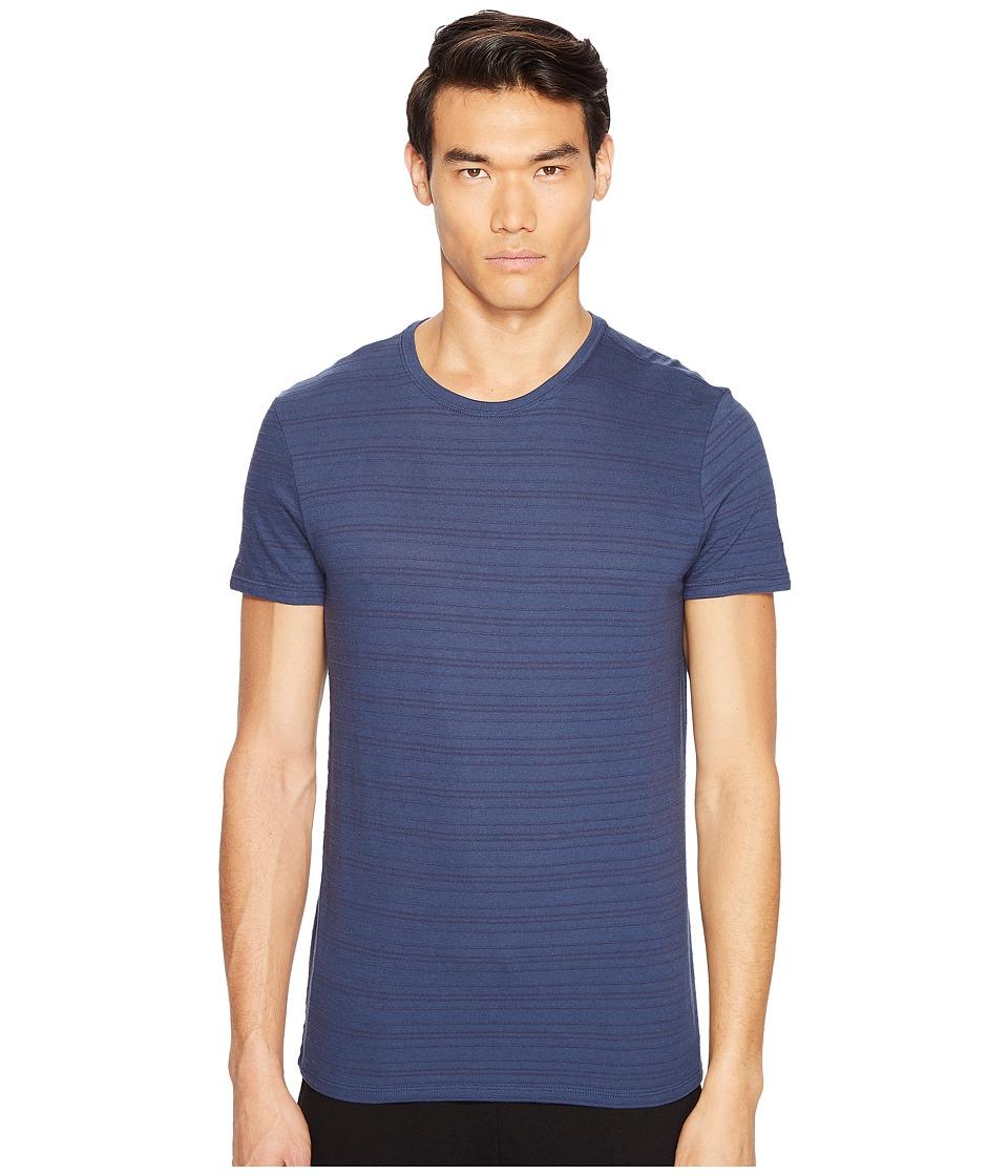 ATM Anthony Thomas Melillo - Jaquard Stripe Crew Neck Tee (Cadet) Men's T Shirt
